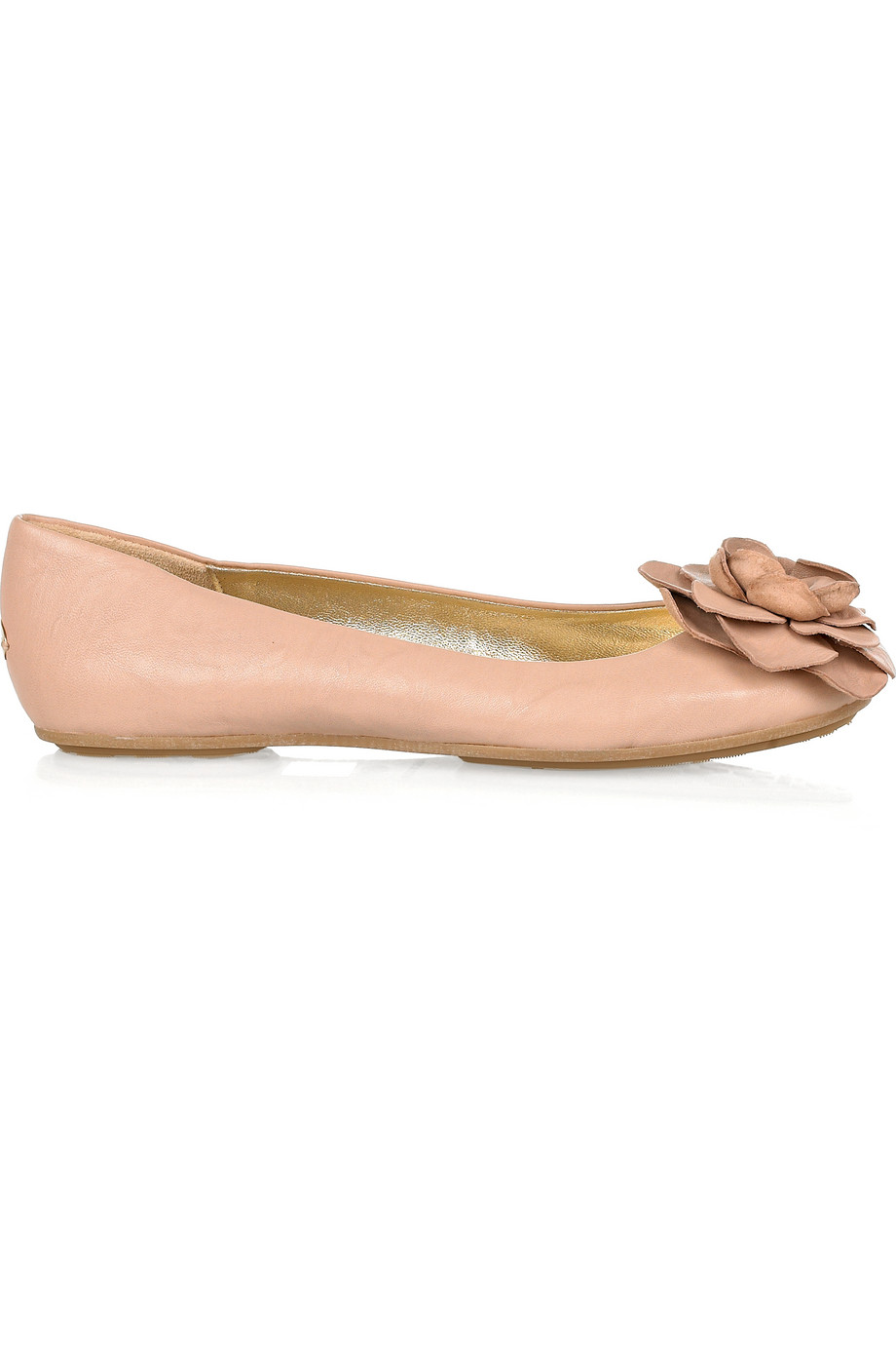 9e9043e0f2f Lyst - Jimmy Choo Warwick Leather Ballerina Flats in Natural
