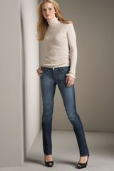 7 For All Mankind Roxanne Skinny Dark Malibu Jeans - Lyst