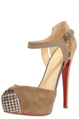 Christian Louboutin Boulima Exclusive Dorsay in Beige (tan) - Lyst