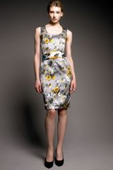 Dolce & Gabbana Floral-print Sheath Dress - Lyst
