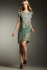 Etro Scoop-neck Shift Dress - Lyst