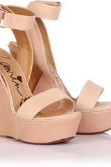 Lanvin Wedge Sandal with Ankle Strip