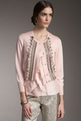 Oscar de la Renta Embroidered Cardigan - Lyst