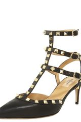 Valentino Studded Ankle-wrap Pump - Lyst