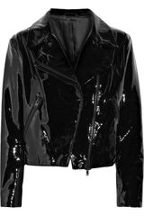 Acne Rita Patent-leather Biker Jacket - Lyst