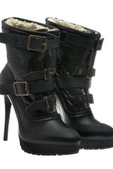 Burberry Prorsum Aviator Shearling Platform Boot