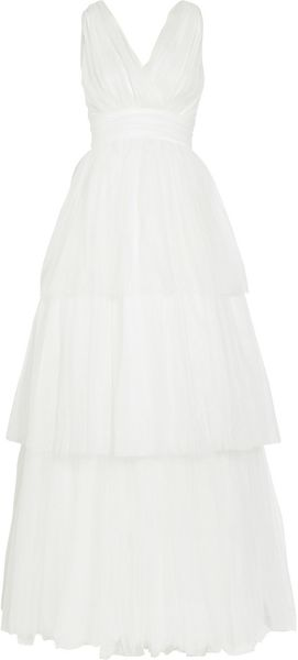 Jason Wu Tiered Tulle Gown in White (ivory) - Lyst
