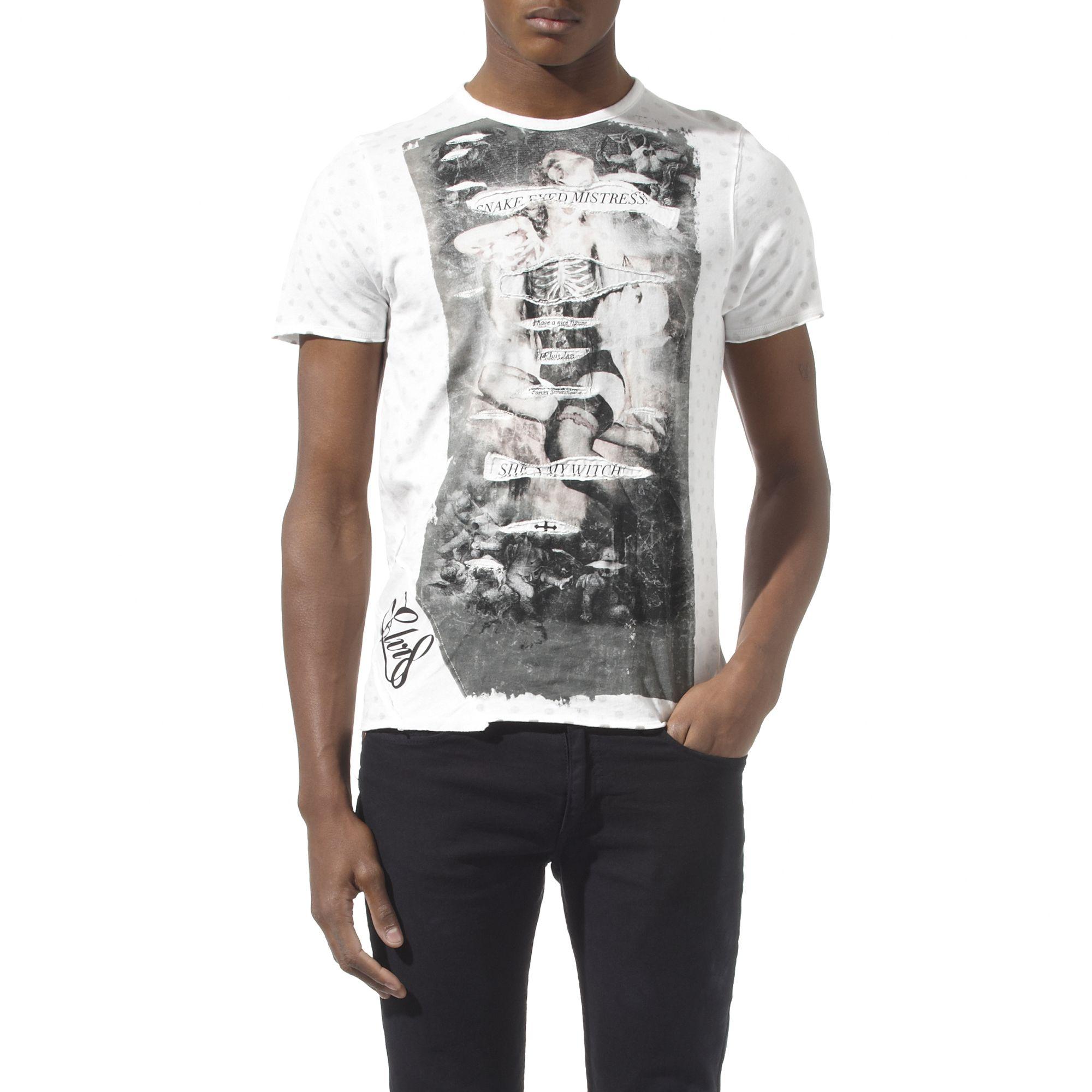 Lyst elvis jesus witch t shirt in white for men for Elvis t shirts for men