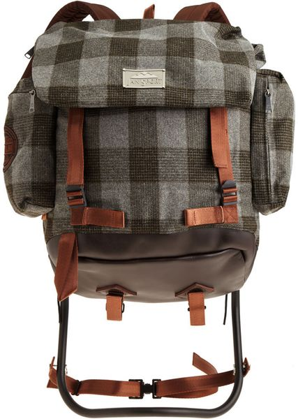 Jansport Metal Frame Backpack In Gray For Men Charcoal