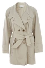 Saint Laurent Short Trench Coat - Lyst