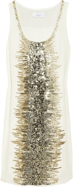 Adam Beaded Silk Dress - Lyst