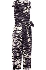Alice By Temperley Tiger-print Cotton Jumpsuit - Lyst