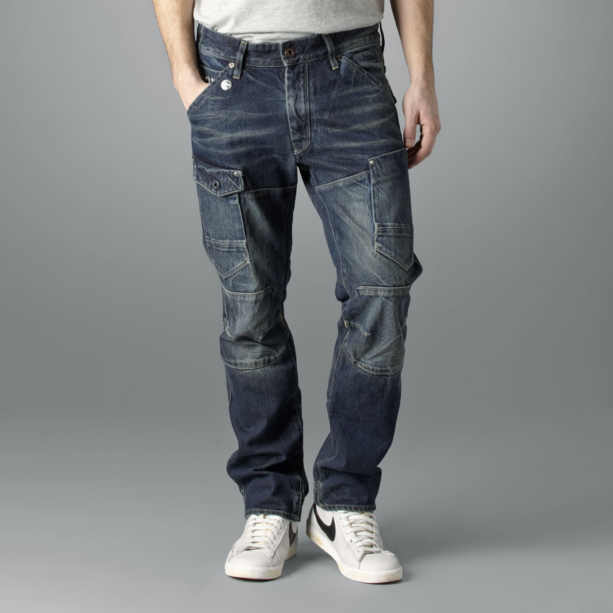 g star raw tapered jeans in blue for men lyst. Black Bedroom Furniture Sets. Home Design Ideas