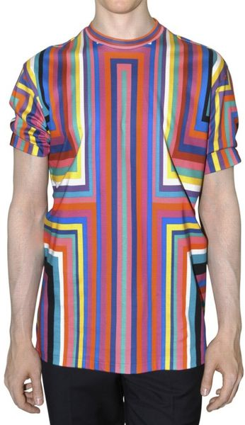 Jil Sander Printed Jersey T-shirt in Multicolor for Men (multi) - Lyst