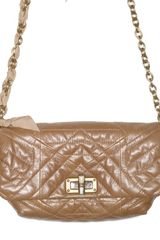 Lanvin Happicolo Quilted Crinkled Shoulder Bag - Lyst