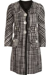 Marc Jacobs Tweed Coat - Lyst