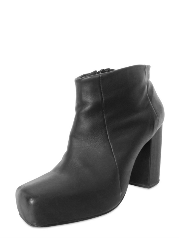 Lyst Rad Hourani 110mm Side Zipped Calfskin L Boots In Black