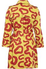 See By Chloé Printed Cotton Trench Coat in Yellow - Lyst