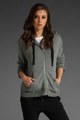 T By Alexander Wang French Rib Cascade Drape Back Hoodie - Lyst