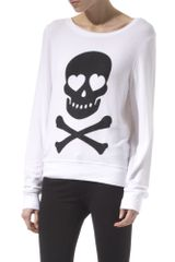 Wildfox Skull and Cross Bones Jumper
