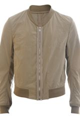 Yves Saint Laurent Cotton-linen Bomber Jacket - Lyst