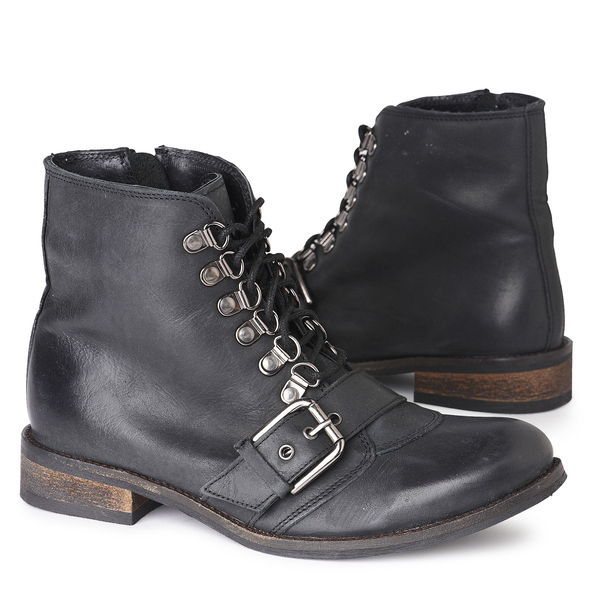 Carvela Kurt Geiger Sidestep Work Boots Black In Black | Lyst