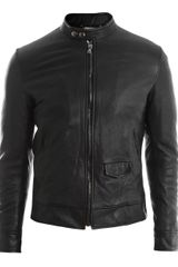 Dolce & Gabbana Leather Bomber Jacket - Lyst