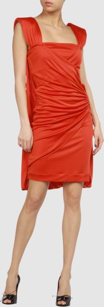 Emanuel Ungaro Short Dress in Orange - Lyst