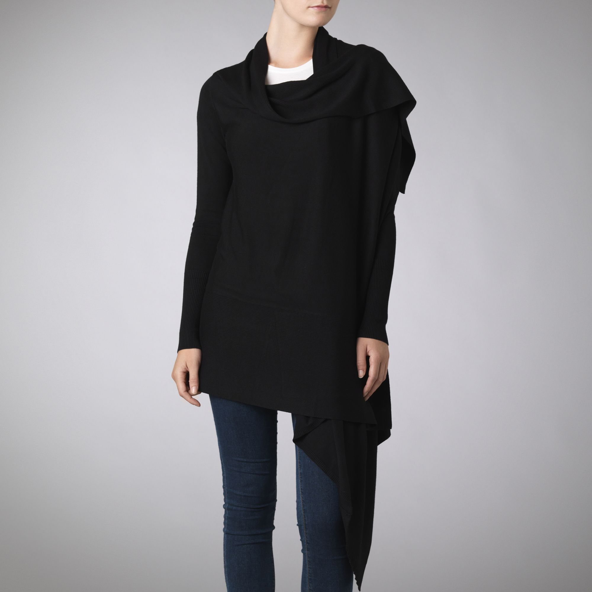 1df93367c3de10 Ted Baker Wrap Cardigan in Black - Lyst