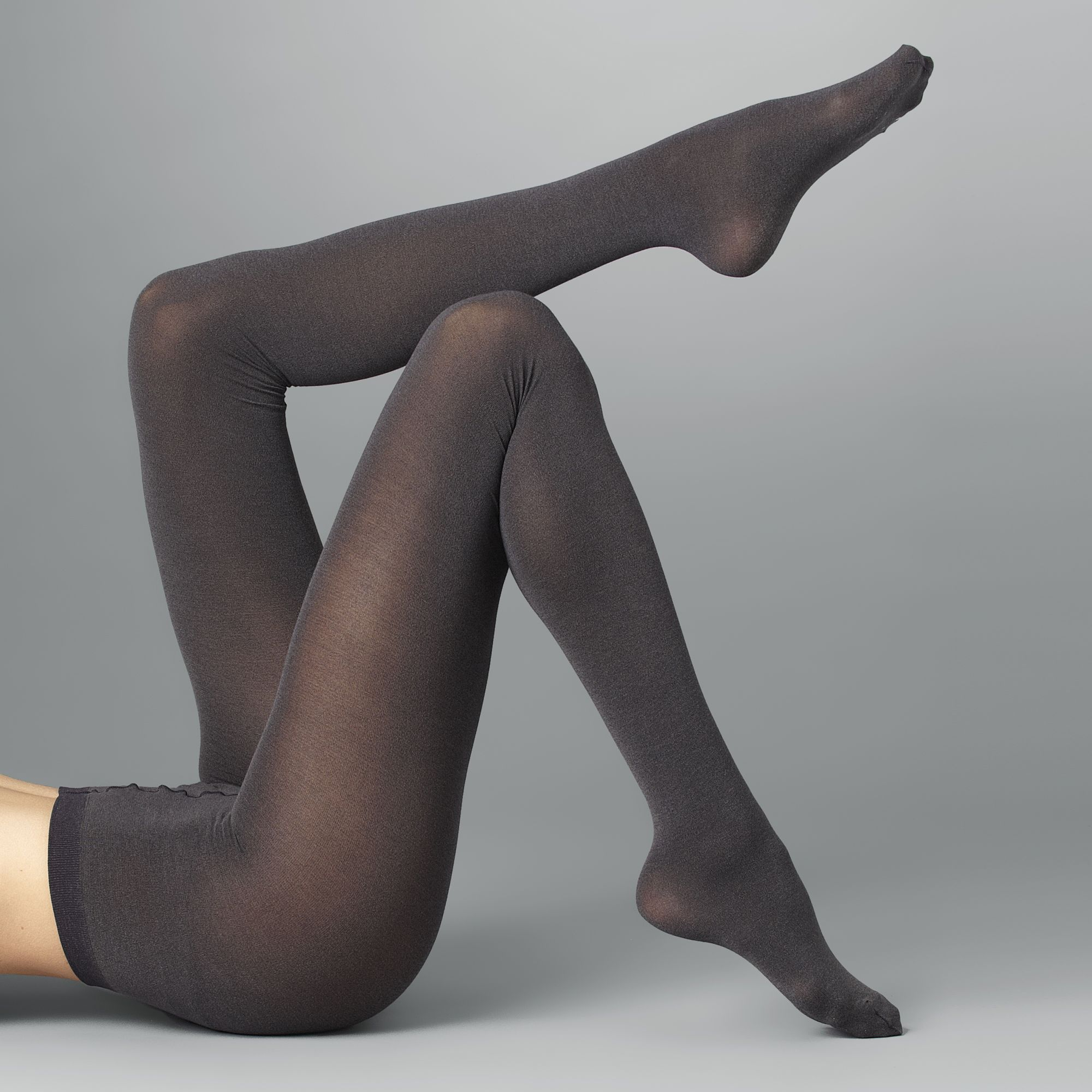 ca3671ad28b Wolford Cotton Velvet Tights in Gray - Lyst