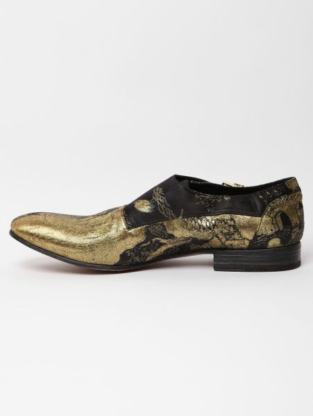 Alexander Mcqueen Alexander Mcqueen Mens Leather Buckle Oriental Shoes