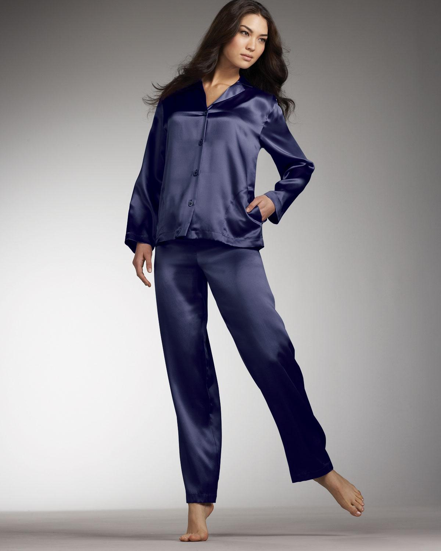 La perla Silk Pajamas, Navy in Blue   Lyst