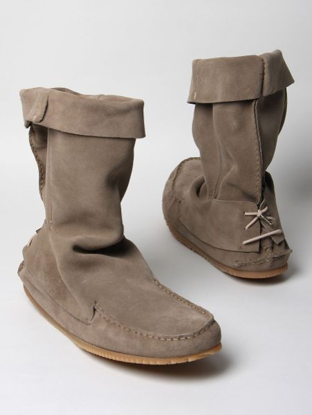Marc jacobs mens high suede boot in beige for men lyst