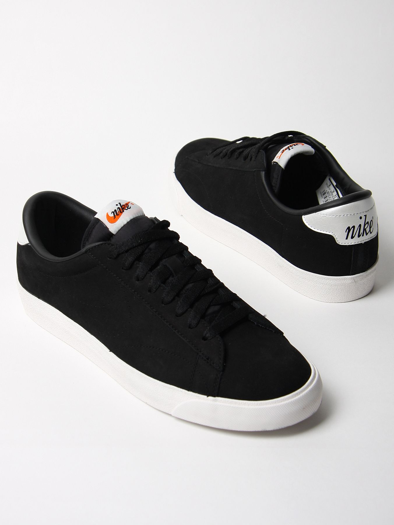 nike tennis classic ac nd suede trainers in black for men lyst. Black Bedroom Furniture Sets. Home Design Ideas
