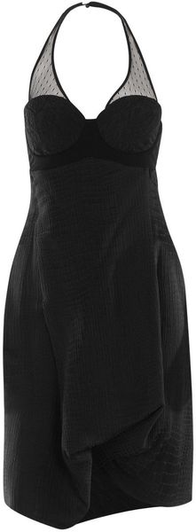 Preen Amour Alligator Dress in Black - Lyst