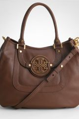 Tory Burch Pebbled Leather Amanda Hobo - Lyst