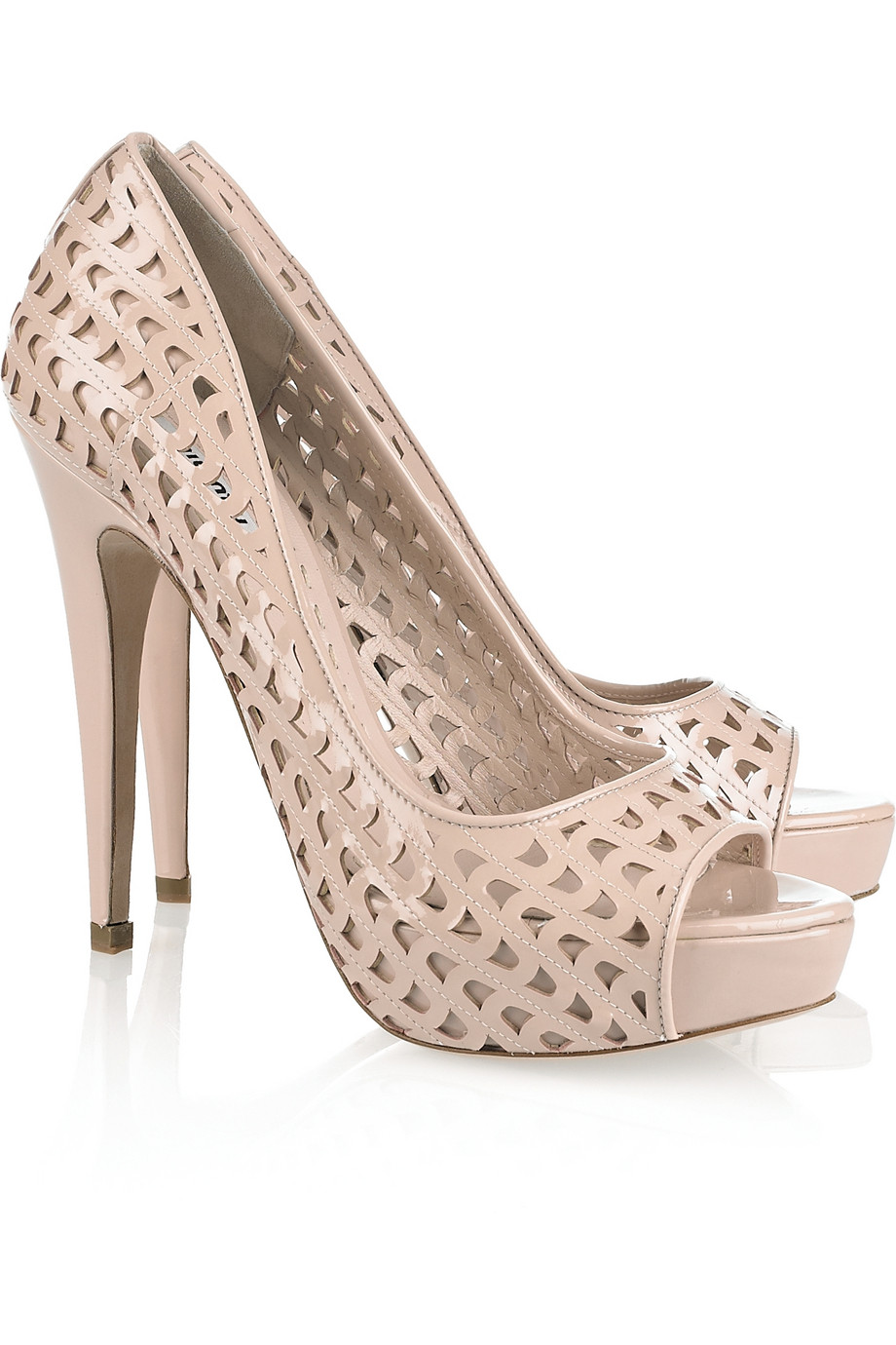 Miu Miu Perforated Peep-Toe Pumps sale cheap geniue stockist for sale cheap clearance choice online 2014 new for sale KyF4coZSYO