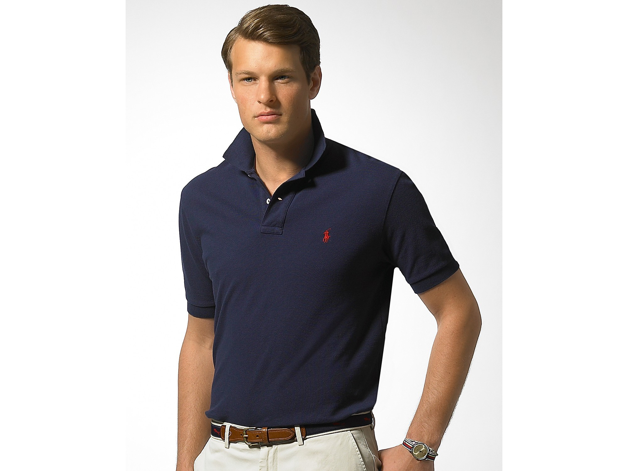 Lyst - Polo Ralph Lauren Classic Fit Short Sleeved Cotton Mesh Polo ... 9cb7c39e1bea