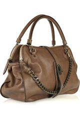 Burberry Chain-embellished Leather Bag - Lyst