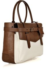 Reed Krakoff Boxer I Leather and Canvas Tote - Lyst