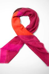 Tory Burch Color Block Scarf - Lyst