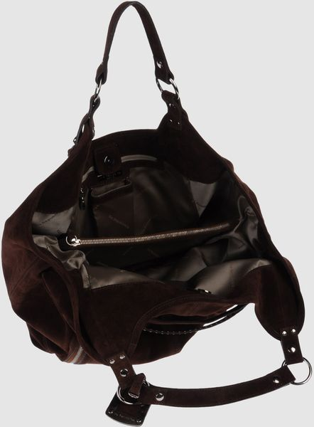 Via Repubblica Medium Leather Bag in Black (grey)
