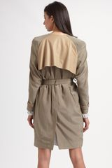 Acne Doublebreasted Trench Coat in Beige - Lyst