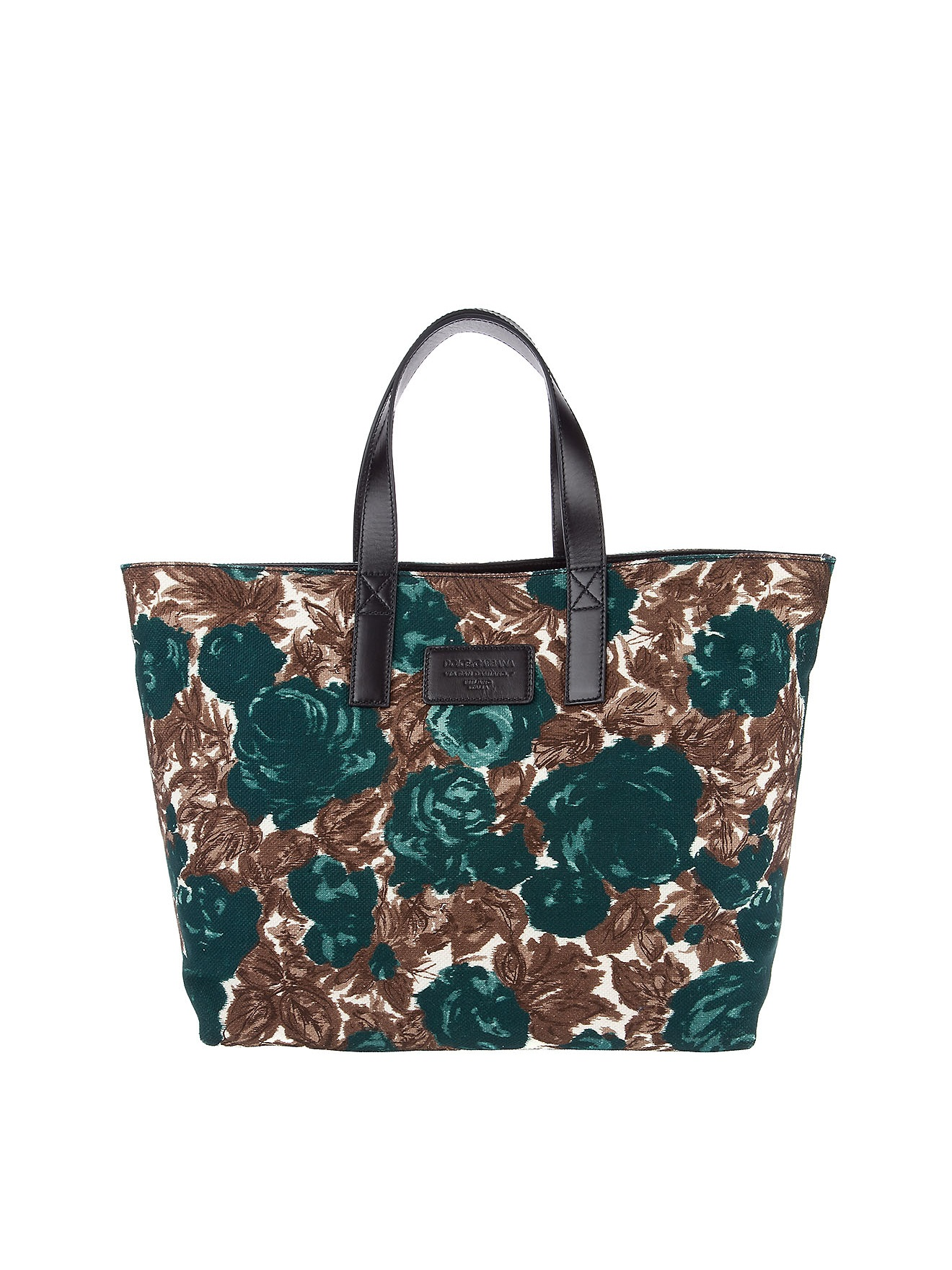 dolce gabbana floral tote bag in green lyst