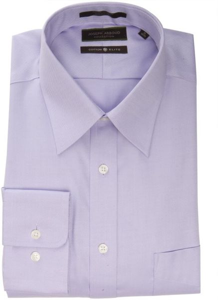 Joseph abboud lavender cotton twill davis point collar for Joseph abboud dress shirt