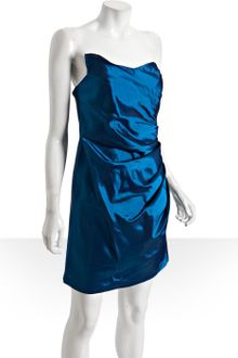 Alexia Admor  Taffeta Draped Strapless Dress - Lyst