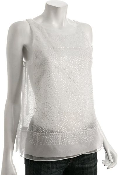 White Organza Evening Blouse Long Blouse With Pants