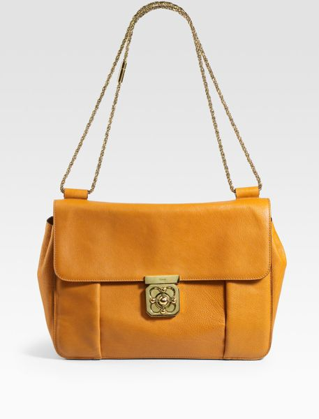 Chloé Elsie New Large Evening Shoulder Bag in Yellow (APRICOT) - Lyst