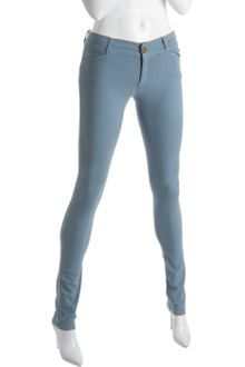 Current/Elliott Faded Blue Stretch Cotton The Legging Skinny Jeans - Lyst