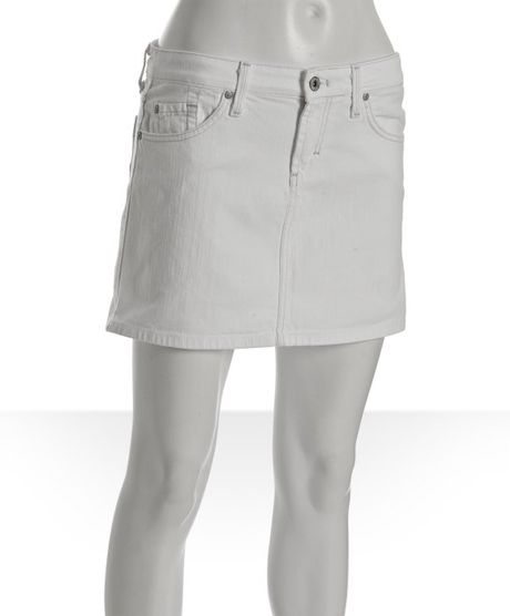 beijing silver mitch denim mini skirt in